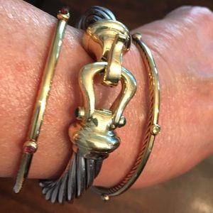 David Yurman 14k Buckle 10mm Bracelet